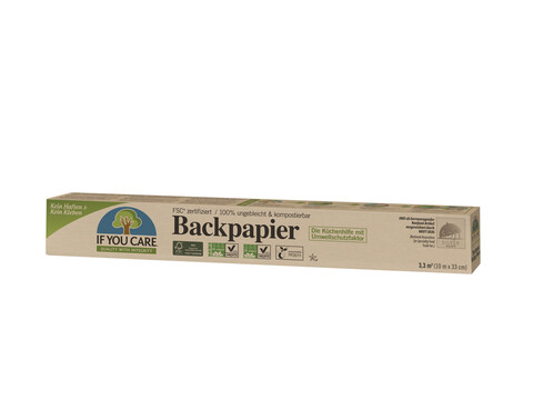 IF YOU CARE Back-Papier, 10 lfm - 12 Rollen
